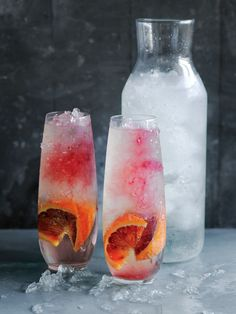 Rosehip Raspberry And Blood Orange Cocktail | Donna Hay