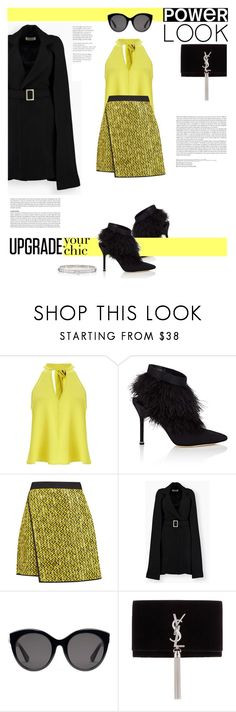 """""""Daisy."""" by zeljkaa ❤ liked on Polyvore featuring Miss Selfridge, Manolo Blahnik, MSGM, Gucci and Yves Saint Laurent"""