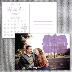 """Postcard Save the Dates.. Doing this. """"Set of 20 Calendar Save the Date Postcards by HollyWouldPress, $30.00"""""""