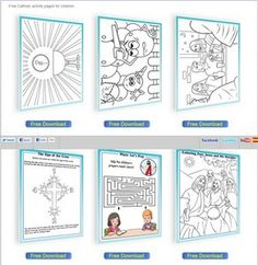 Catholic Faith Education: Free Catholic activity pages for children