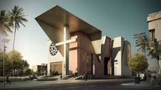 Haiti Cathedral Design: The result of two opposite vertical forces