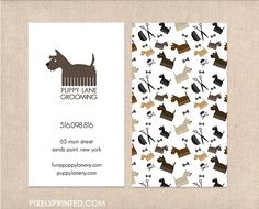 Business cards for dog walkers, pet sitters, grooming, pet hotels, etc.                                                                                                                                                      More