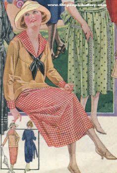 1920s Sailor Style dress