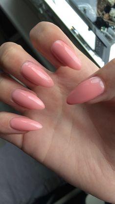 Beautiful Pink stiletto nails