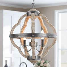 Orb Chandelier, Globe Chandeliers for Dining Globe Pendant Light,Distressed Wood Farmhouse Chandelier French Country Chandelier, Farmhouse Chandelier, Rustic Chandelier, Farmhouse Lighting, Rustic Farmhouse, Simple Chandelier, Craftsman Lighting, Rustic Lighting, Farmhouse Style