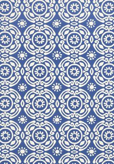 Soleil #fabric in #blue from the Resort collection. #Thibaut
