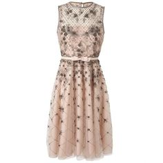 VALENTINO Embellished Mesh And Organza Dress ($8,070) ❤ liked on Polyvore