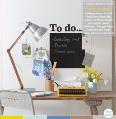 Home Office: How To Add Subtle Colour Accents – Bright.Bazaar  Liking the desk.