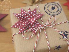 DIY Fröbelsterne als Schmuck für Geschenke + Giveaway - Frau Liebling DIY Blog über Geschenke, Deko und Lettering