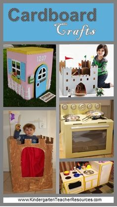 10 really cool Cardboard Box Crafts that you can make with kids at home, kindergarten or at school.