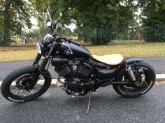 For sale Custom XV 535 Bobber with original engine and only 2310 miles! Virago Bobber, Virago 535, Bobber Bikes, Bobber Motorcycle, Bobber Chopper, Custom Bobber, Custom Choppers, Custom Bikes, Cafe Moto