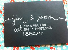Calligraphy Envelopes for invitations Wedding by GreySnailPress. , via Etsy.