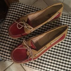 Red, Croft & Barrow Shoes Worn once! Tags still stuck to bottoms. Very cute imitations of 'you know who' lol! Red patent. Shoes Flats & Loafers