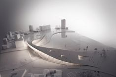 We're happy to share JAJA Architcts' lastest project – a proposal for a moon bridge that intends to unify the waterfront city of Kaohsiung for their. Concept Architecture, Landscape Architecture, Architecture Design, Architecture Diagrams, Architecture Portfolio, Landscape Model, Landscape Design, Landscape Plans, Arch Model