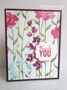 6 Cards made from one sheet of Painted Blooms Designer Paper from the Occasions Catalog… #stampyourartout #stampinup - Stampin' Up!® - Stamp Your Art Out! www.stampyourartout.com