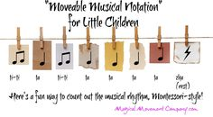 "New music post about Montessori-Style ""Moveable Music Notes"" after the idea of the Montessori Moveable Alphabet"