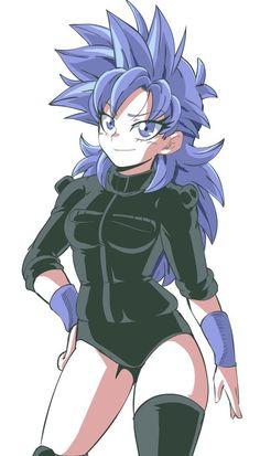 Dbz Characters, Black Anime Characters, Cute Anime Character, Character Art, Female Goku, Female Dragon, Dragon Ball Image, Dragon Ball Z, Kawaii Anime Girl