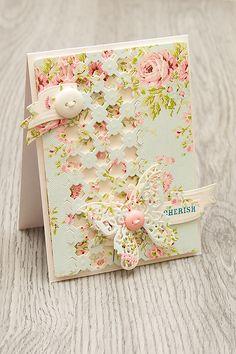 butterfli, handmade card blogs, button, precious friend, friend cards