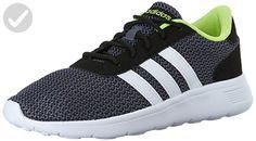 adidas neo mens lite racer lifestyle runner sneakerblack white8.5 m us