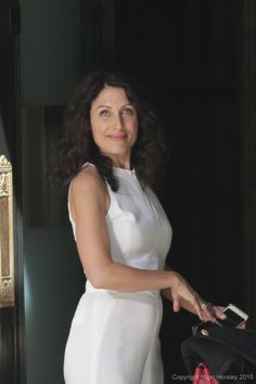 """Lisa Edelstein on the set of Girlfriends' Guide to Divorce - wearing my """"girlfriend"""" rings!  so gorgeous!  photo courtesy of the fantastic Nigel Horsley!"""