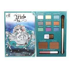 Disney Ariel Treasure Within Beauty Book Gift Set - 1 set Ariel Makeup, Disney Makeup, Elf Makeup, Cute Makeup, Skin Makeup, Disney Princess Makeup, All Things Beauty, Beauty Make Up, Makeup Pallets