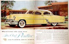 vintage pontiac advertising | 1954 Pontiac Star Chief Centerfold Vintage Ad