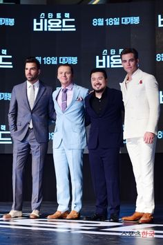 Zachary Quinto, Simon Pegg, Justin Lin and Chris Pine / The Premiere of Star Trek Beyond in Seoul, South Korea 16 aug 2016