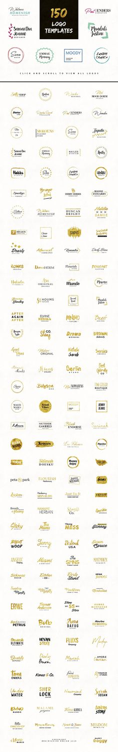Fancy Logos - Branding Logo Pack by Brainvasion on @creativemarket