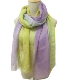 Yellow Purple Ombre Scarf