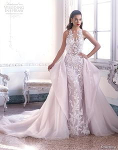 Timeless silhouettes meet dramatic embellishments in the 2019 Platinum by Demetrios bridal collection. Here you'll find voluminous lace ball gowns with exquisitely Gatsby Wedding Dress, Fit And Flare Wedding Dress, Elegant Wedding Dress, Wedding Dress Styles, Wedding Attire, Bridal Dresses, Wedding Gowns, Wedding Ceremony, Reception