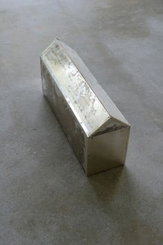Wolfgang Laib, Rice House, 1986/2006 silver sheet on wood, rice 3 3/4 x 2 1/4 x 7 3/8 inches (9.6 x 5.7 x 18.9 cm)
