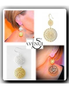 Accessories by Park Lane Ohrringe mit zwei Medaillons - 75-th Avenue