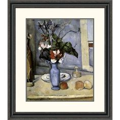 Global Gallery 'Blue Vase' by Paul Cezanne Framed Painting Print Size: