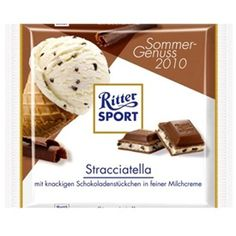 One of my favorite things about SF is there are Ritter Sport bars in nearly every deli! This one is amazing and really tastes like you are eating a scoop of gelato. #chocolate #rittersport