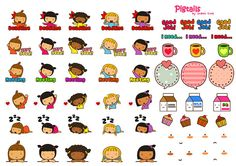 FREE printable planner sticker: pigtails_deco_tags by thepigtails, via Flickr