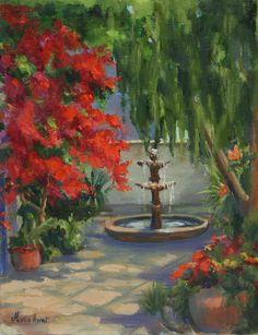 http://fineartamerica.com/featured/fountain-in-the-courtyard-maria-hunt.html