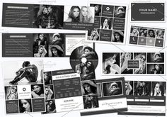 Photography Marketing Set 004. Creative Business Card Templates
