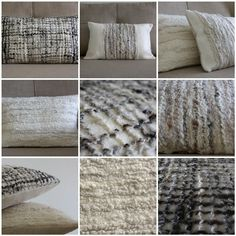 Textured Felted Wool Cushion, Off White Natural Fibre Decorative Pillow