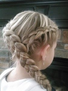 Little Girl's Hairstyles: Hunger Games KATNISS Hairstyle: How to do a Y Dutch Braid