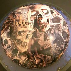 The Skull King. Decoupage bowl by Tom Parsch