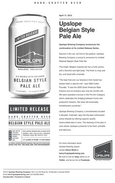 Upslope Brewing Company... #emailmarketing