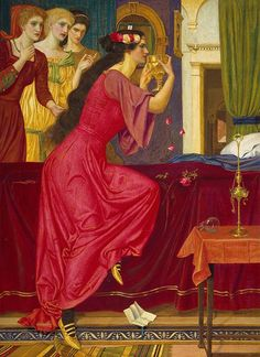 Sigismonda Drinking the Poison, Joseph Edward Southall