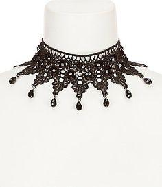Natasha Accessories Crochet Choker Necklace