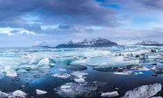 Jokulsarlon (glacier lagoon) sunrise panorama © 2014 Dennis Krukover & Dark Eclipse Studios  ★★★ Limited Edition Fine Art Print of this image & others are available for purchase directly from the artist @www.darkeclipse.com ★★★ Thank you for your support of independent photographers on Pinterest ★★★