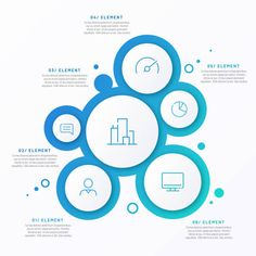 Graphic Design Brochure, Brochure Design Inspiration, Graphic Design Posters, Circle Infographic, Infographic Templates, Free Infographic, Bubble Diagram, Diagram Design, Software