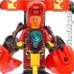 Lego Super Heroes Custom Assault Armor Iron Man Anthony Tony Minifigures