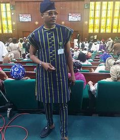 Photos of Shina Peller at the 'Green Chambers' in Abuja African Dresses Men, African Tops, African Clothing For Men, African Women, Mens Clothing Styles, Nigerian Men Fashion, African Print Fashion, Africa Fashion, Mens Fashion