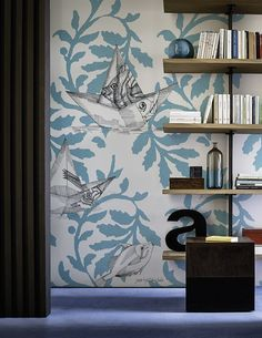Motif wallpaper FLOAT ON Contemporary Wallpaper 2016 Collection by Wall&decò design The elusive otter