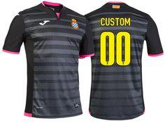RCD Espanyol Black 2016-17 Alternate Customized Jersey