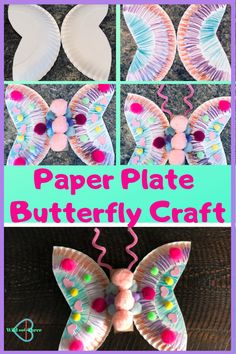 Preschool Paper plate butterfly craft This is a really easy craft your kids can do at home with just a few household items crafts kids paperplatecrafts e Paper Plate Crafts For Kids, Easy Arts And Crafts, Spring Crafts For Kids, Crafts For Teens To Make, Easter Crafts, Paper Plate Art, Easy Kids Crafts, Diy Crafts, Tissue Paper Crafts